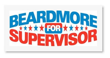 Beardmore for Supervisor sign