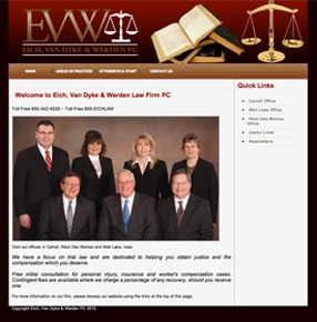EVW Law website