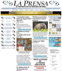 LA PRENSA Hispanic Newspaper website