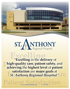 St. Anthony Regional Hospital recruitment brochure
