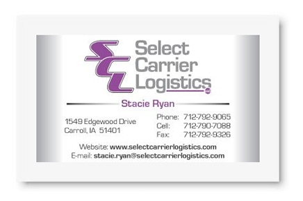Select Carrier Logistics Business Card